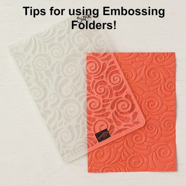 Today I'm excited to share some tips for using embossing folders. I had to get creative recently to problem solve and I'm hoping this tip will be handy for you  too! #sharonarmstrong #txstampin #cardmakingtips #cardmaking #stampinupcards #greetingcards