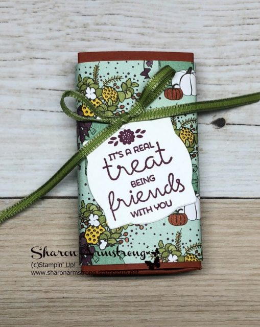 Handmade Treat Boxes Video tutorial. These Hershey Nuggets candy favor boxes are quick and easy to create and they make such a great chocolate gift. Whether you need DIY party favors or Christmas candy gifts you'll be able to customize these diy boxes for your own need. Sharon Armstrong, TxStampin Sharon #chocolategift #handmadegifts #papercrafting #sharonarmstrong #txstampin