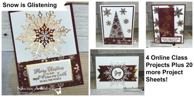 Handmade Christmas Cards, Online Card Making kit, Sharon Armstrong