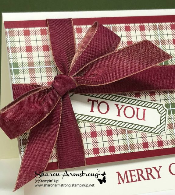 Gift card holder: Includes video tutorial by Sharon Armstrong with TxStampin. Learn how to turn any handmade card into a gift card holder quickly and easily! #christmascards #cardmaking #greetingcards #sharonarmstrong #txstampin #stampinupcards