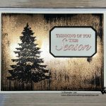 Black Ice Technique Greeting Card