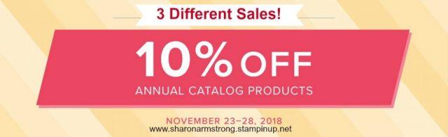 Stampin' Up! Sale November 2018