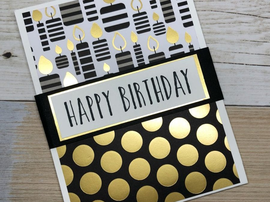 Handmade Birthday Card: Doubles as Gift Card Holder