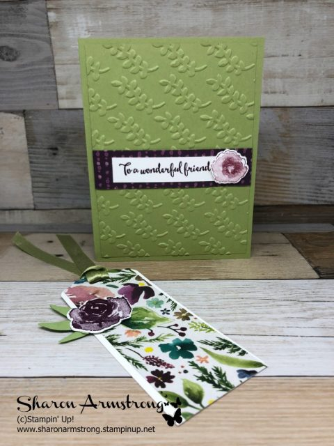 Easy Handmade Card with Bookmark Accent is the step by step tutorial I'm bringing you today. Learn these DIY bookmark making fun with handmade card design. #cardmaking #handmadecards #diybookmark #greetingcards #sharonarmstrong, #txstampin, #txstampinsharon,