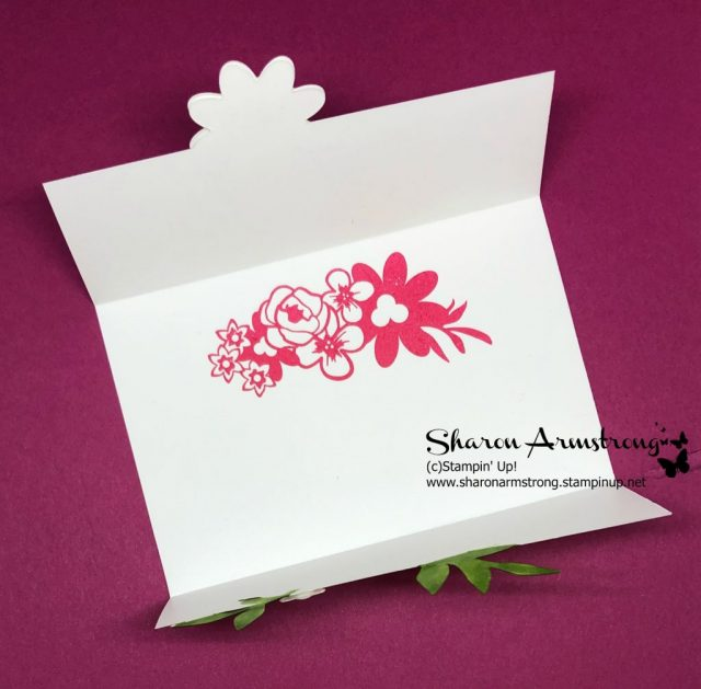 Handmade Card Image: Gate Fold Card Featuring Flowers