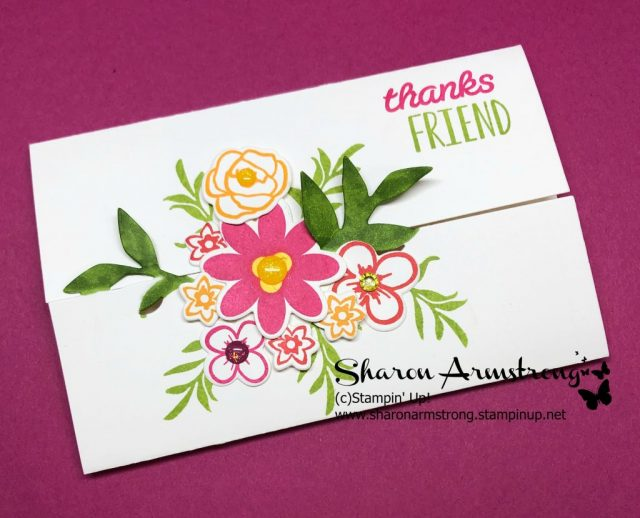 How to Make a Gate Fold Card Featuring Flowers