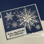 Heat Embossed and Foil Snowflakes Card