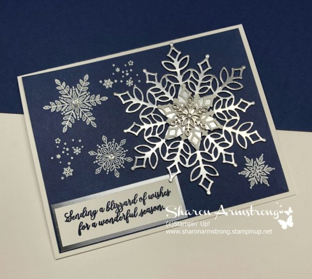 Handmade Card - Heat Embossed and Foil Snowflakes Card