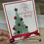 No Shed Glitter on Christmas Greeting Card