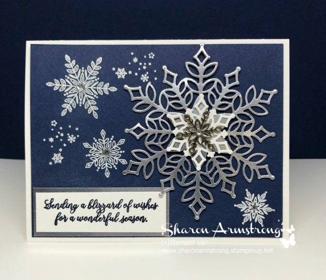 Christmas Card - Heat Embossed and Foil Snowflakes Card