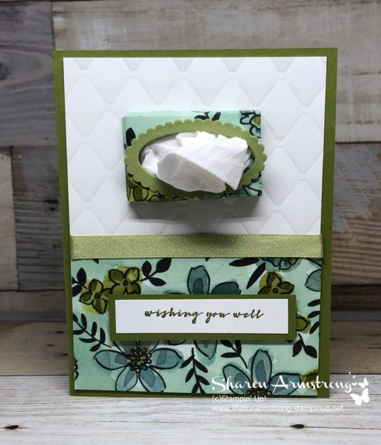 DIY Get Well Tissue Box Card