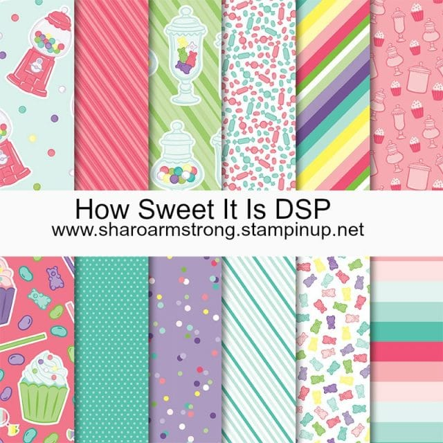 Beautiful Scrapbook Paper with Colorful Candies and Design Pattern Papers