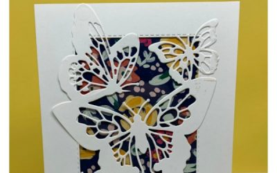 Butterfly Layer and Die Cut Window Card
