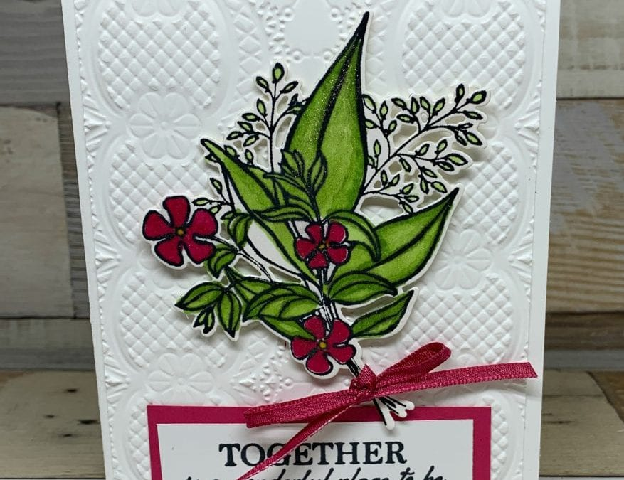 New Stampin' Up! Wonderful Romance with Coloring Techniques