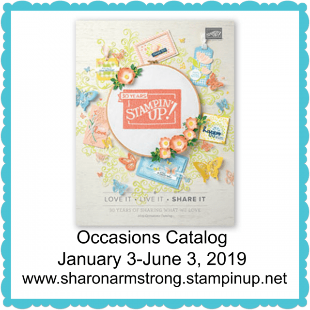 2019 Occasions Catalog Cover Sharon Armstrong Tx Stampin Sharon