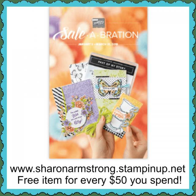 2019 SaleABration Catalog Cover Sharon Armstrong Tx Stampin Sharon