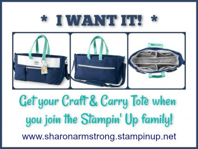 Craft & Carry Tote Available for Limited Time Shop with Sharon Armstrong