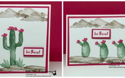 Unbelievably Easy Flowering Desert Card