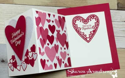 Exciting and Easy Fun Fold Valentine Card