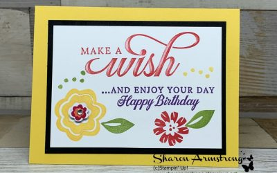 Jubilant Birthday Card with Cheerful Floral Pattern