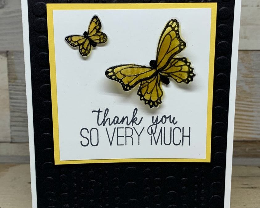Thank You Card with Vellum Butterfly Gala
