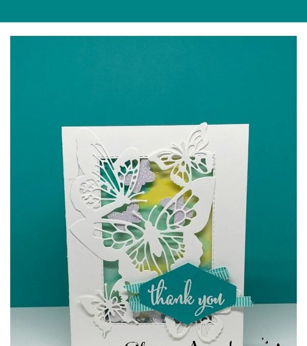 Beauty Abounds in This Shaker Card + February Card Class