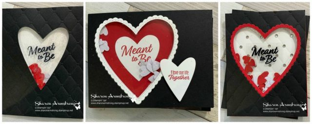 3 Shaker Cards Made with Stampin Up Meant to Be Bundle
