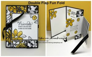 Double-Flap-Fun-Fold-Card-in-Yellow-Flowers-on-Black-Background