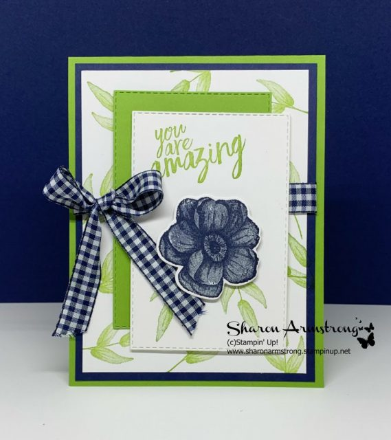Modern-Colorful-Layers-on-Handmade-Card-for-Friend-with-Blue-Flower-and-Green-Background