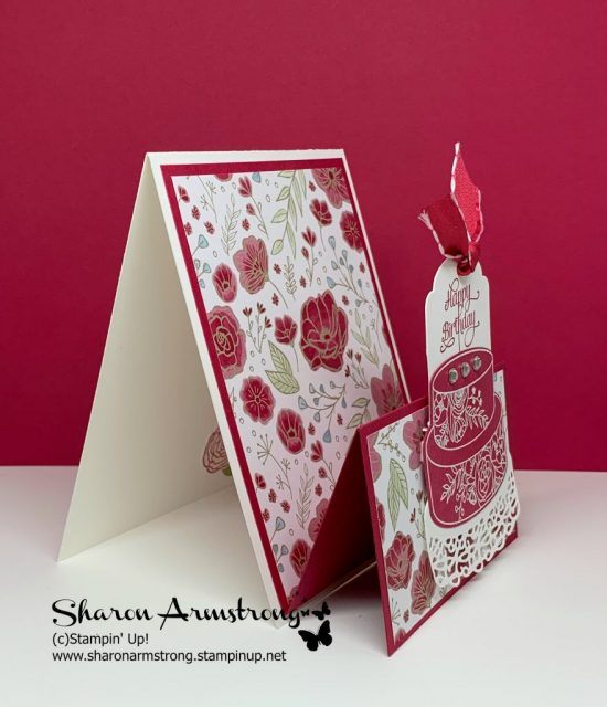 Double-Easel-Fold-Birthday-Card-with-Roses-and-Cake-by-TxStampin-Sharon