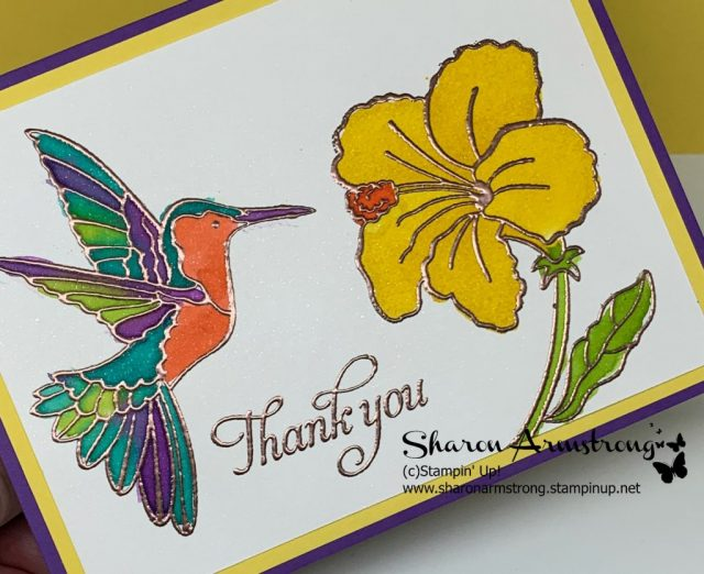 Hummingbird-Thank-You-Card-Bright-Colored-Bird-and-Yellow-Flower