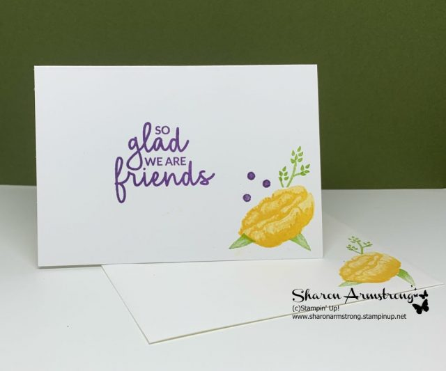 Handmade-Card-for-friends-using-stamp-positioner-tool-stamped-yellow-flowers