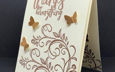 Make An Easy Elegant Copper Embossed Greeting Card