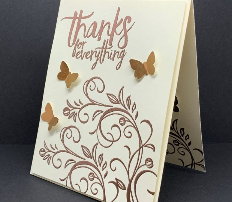 Make An Easy Elegant Copper Embossed Greeting Card