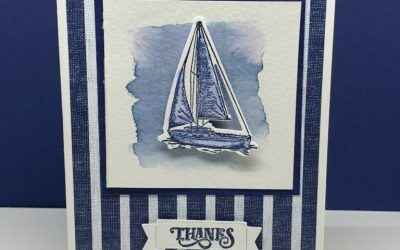 Stunning Watercolor Card Made in Under 10 Minutes | Stampin' Up! Sailing Home
