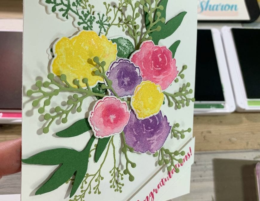 Floral Card That Uses Impressive and Easy Die Cutting