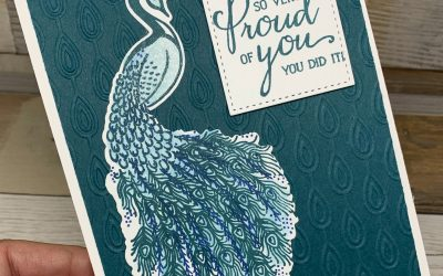 A Gorgeous Royal Peacock Card You Can Make Easily