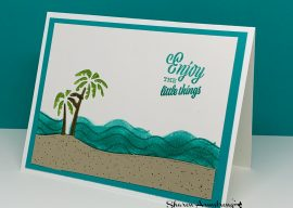 How to Layer Die Cuts for a Fun Layered Greeting Card