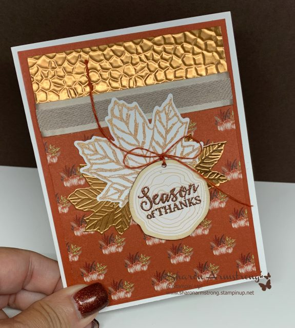 Autumn-Greeting-Card-Handmade-by-Sharon-Armstrong-TxStampin