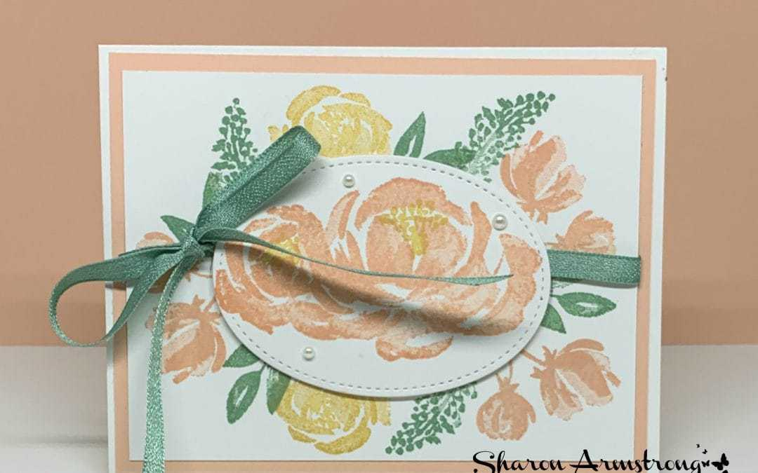 How to Make a Simple Stamped Birthday Card in Minutes