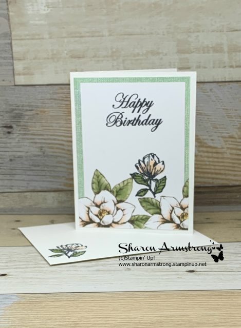 Card-Kit-Sample-Birthday-Card-with-Magnolias-on-Green-Background