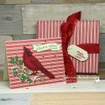 How to Make a Beautiful Cardinal Christmas Card + Matching Gift Wrap