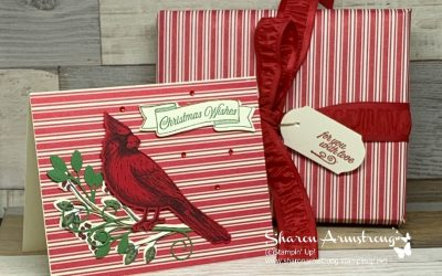 How to Make a Beautiful Cardinal Christmas Card + Matching Gift Wrap