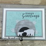 How to Make a Polar Bear Christmas Card with Texture & Glimmer