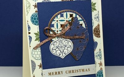 How to make a Brightly Gleaming Christmas Card