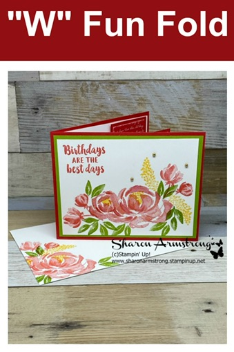 How to Make a 'W' Fun Fold Card with Step by Step Instructions