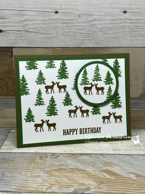 Framed-Christmas-Card-Handmade-with-Stamped-Snow-Front-Scene