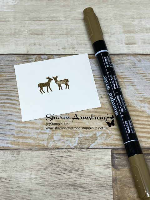 Stamped-Brown-Deer-on-White-Cardstock