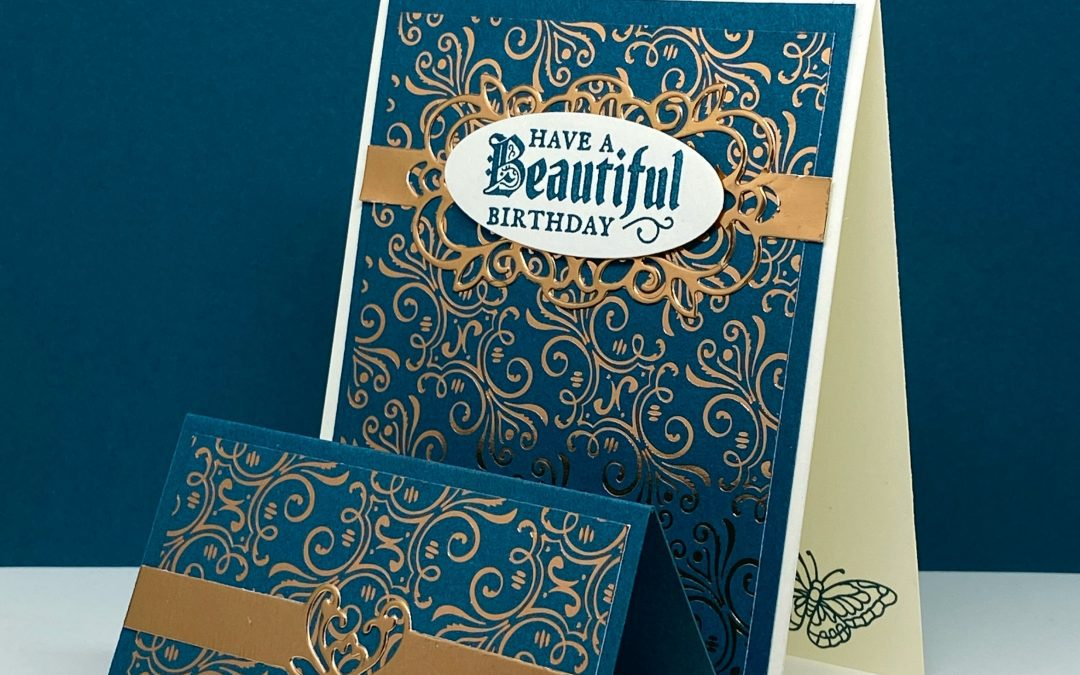 A Gleaming Birthday Card with a Fun Fold You'll Love
