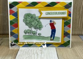 How to Watercolor Images for Easy Masculine Cards